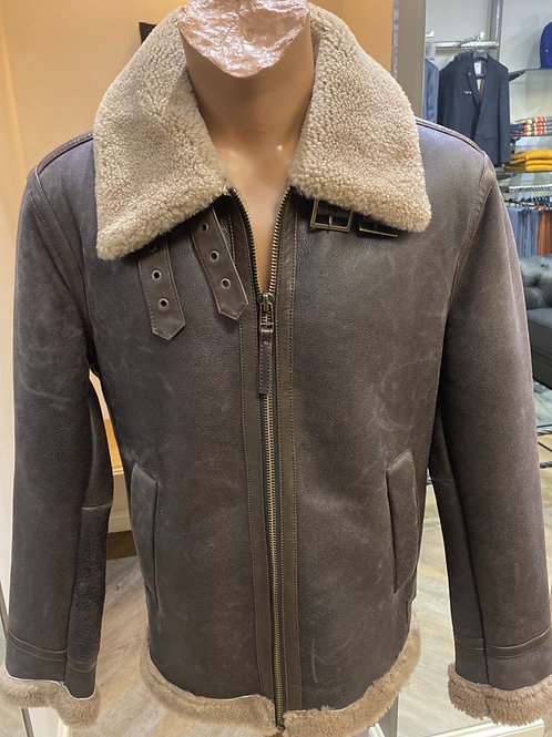 Smarty  Brown  Leather Jacket