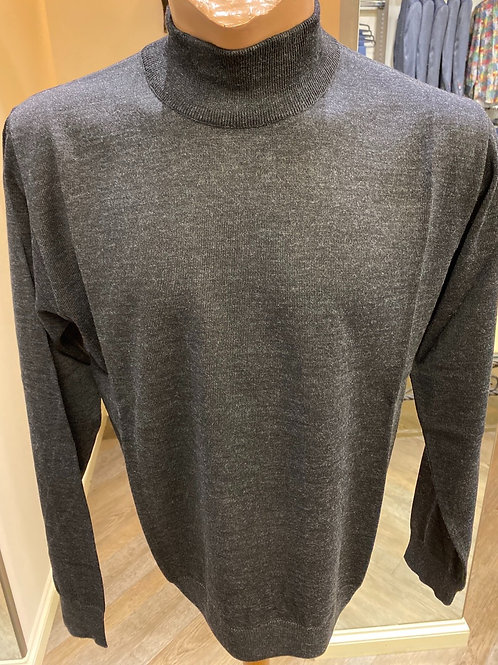 Montechiaro of Italy Crafted grey knitwear