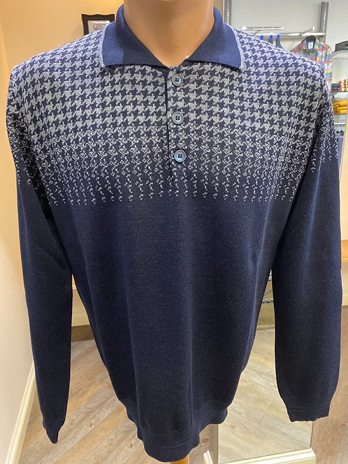 Montechiaro of Italy Crafted  navy knitwear