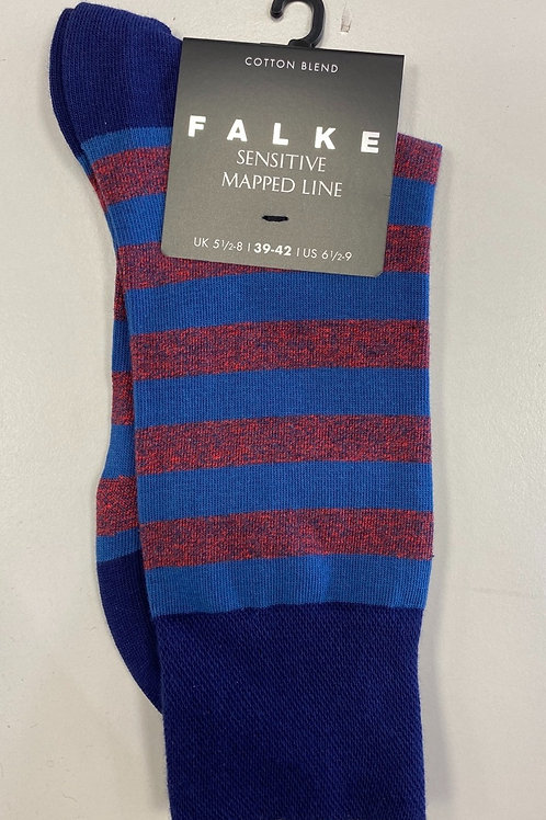 FALKE  Sensitive mapped line Socks red stripe