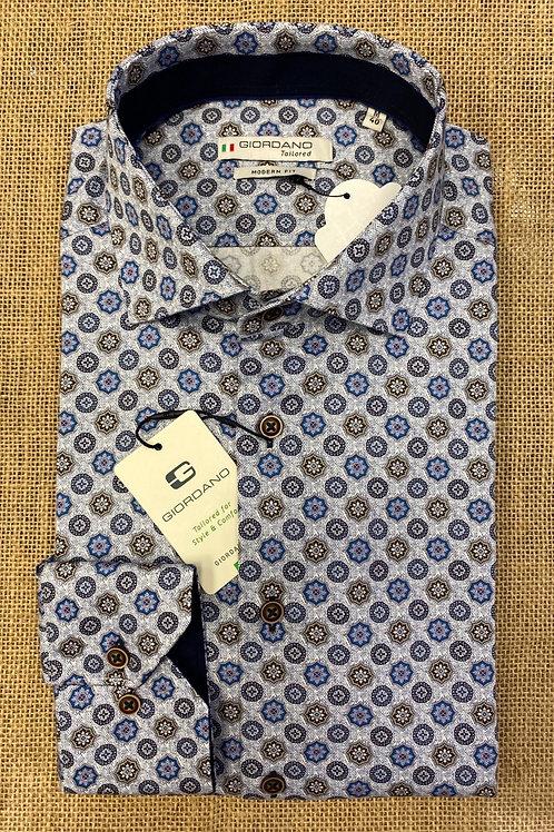 Giordano 207878-60 blue/brown shirt