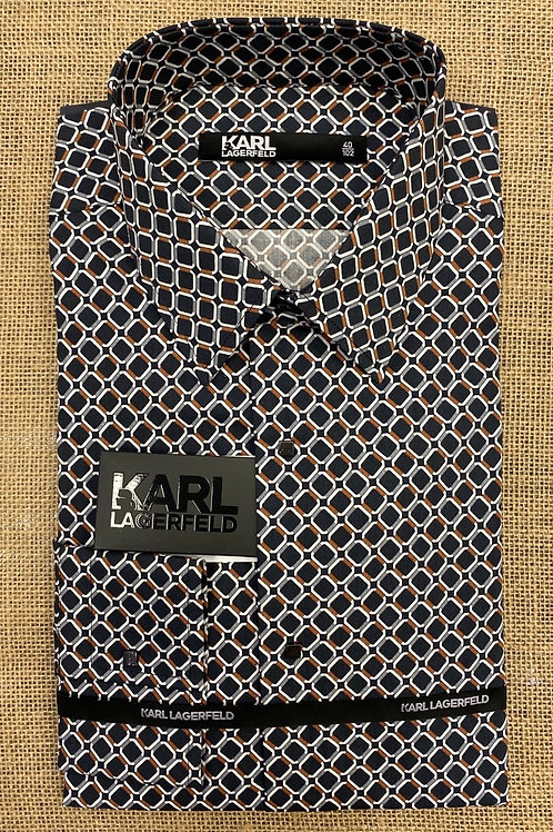 Karl Lagerfeld black/brown shirt