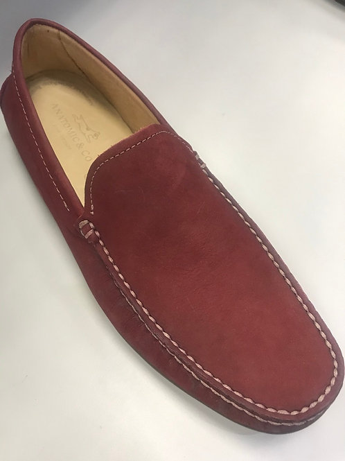 Anatomic moccasin burgundy nubuck