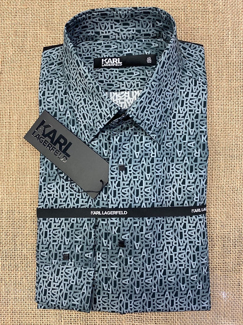 Karl Lagerfeld  black/blue shirt