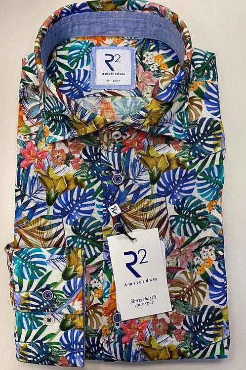 R2 Long sleeves Linen shirt multi colors