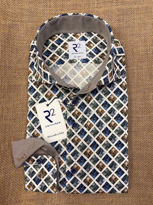R2 039-014 Long sleeves  multicoloured shirt