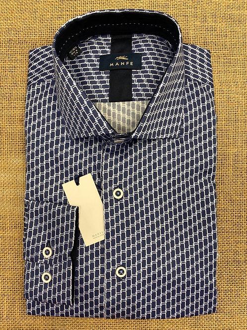 Manfe Navy/pattern shirt