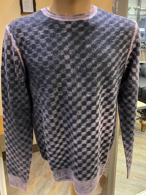 Lorenzone  black check knitwear