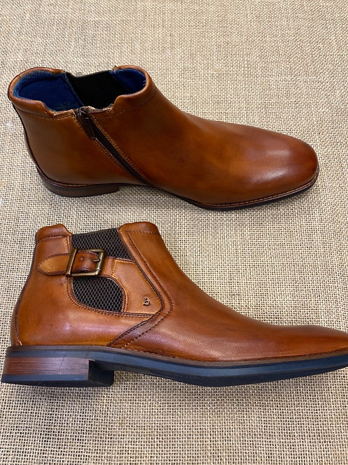 Bugatti 311-81820 cognac with zip Chelsea boot
