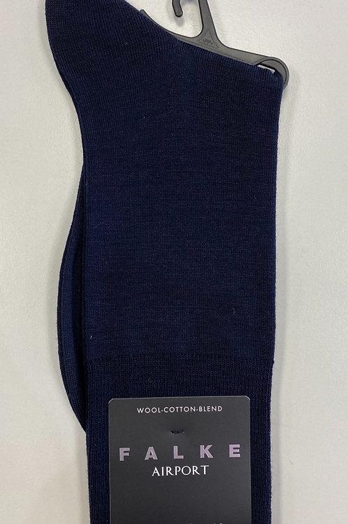 FALKE  elegant merino-cotton-blend Socks  navy blue