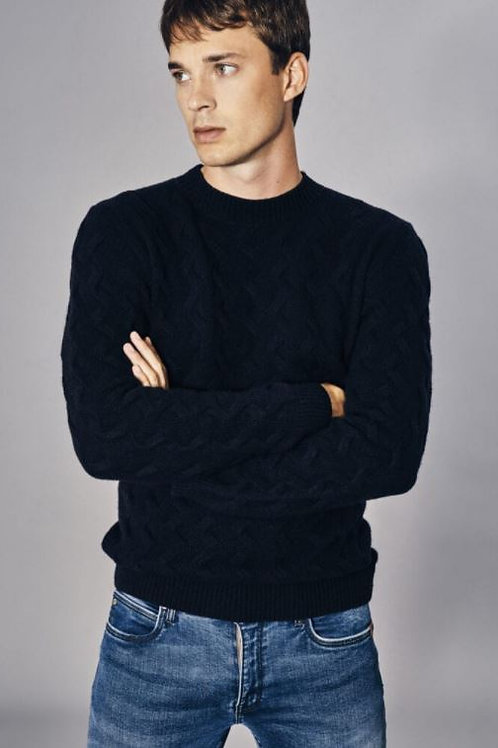 Sand Navy Blue Knitwear