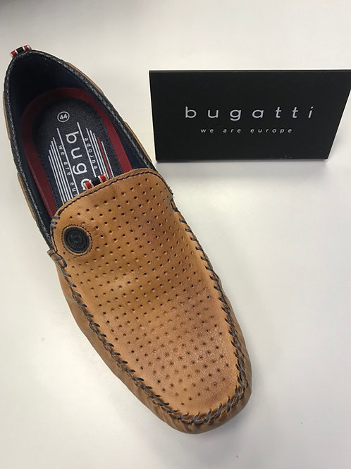Bugatti  slip on shoes in Cognac/ Navy blue