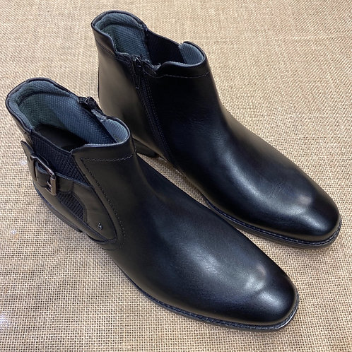 Bugatti 311-81820 black with zip Chelsea boot
