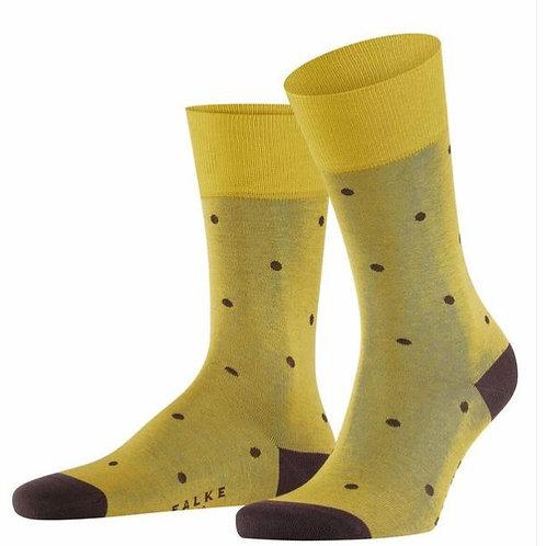 FALKE  Dot Men Socks deepyellow/brown
