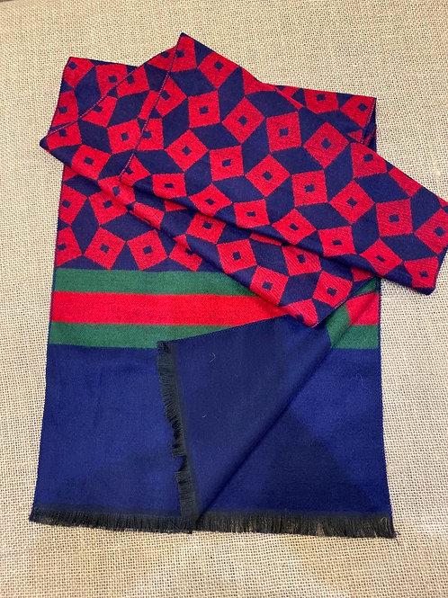 Swole Panda SP red stripe scarf