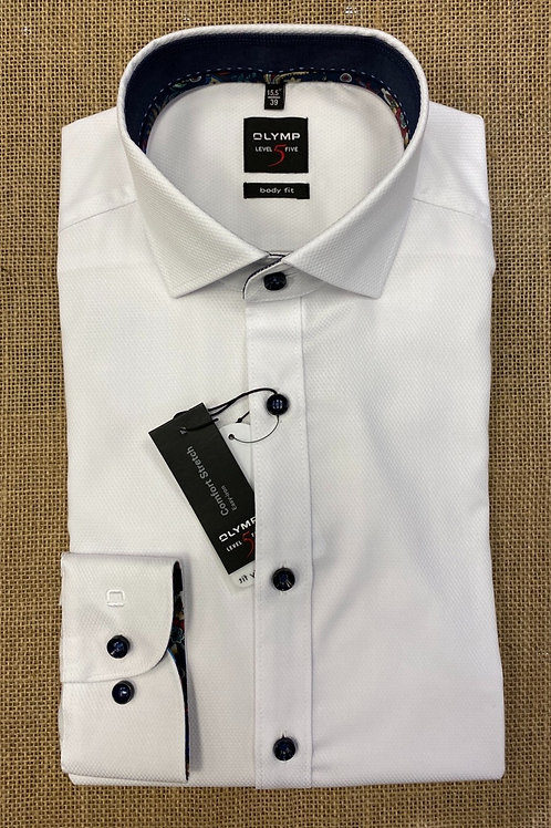 OLYMP 2098-64white  Level Five, body fit  shirt