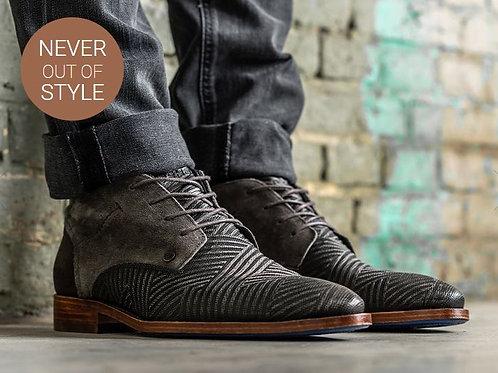 Rehab (SALVADOR) dark grey lace-ups shoes
