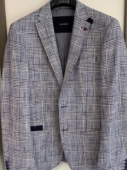 Roy Robson slim fit blue check jacket