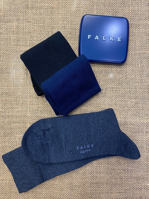 FALKE  3*Socks dark navy, royal blue, navy Mel.