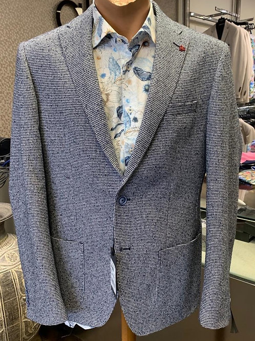 Roy Robson slim fit blue/white jacket