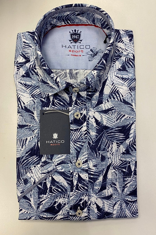 HATICO Sport in white and Navy Blue colors shirt