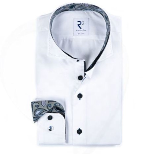 R2 Long sleeves white  shirt