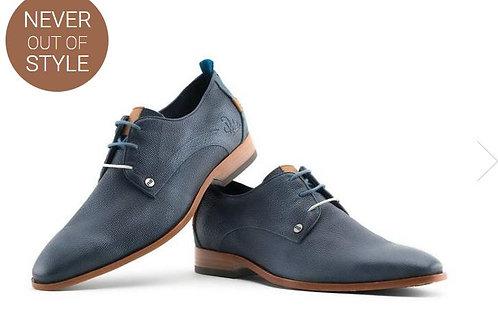 REHAB blue business lace-up shoes