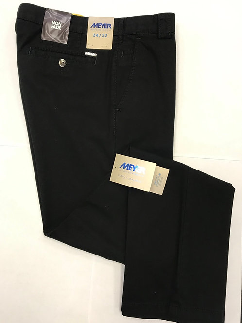 Meyer Roma black chino Soft Cotton