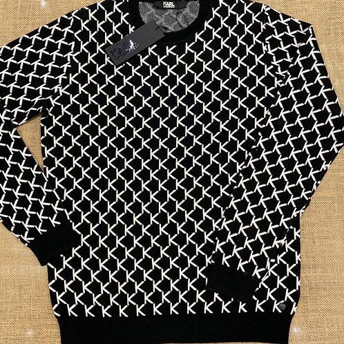 Karl Lagerfeld  black/white knitwear