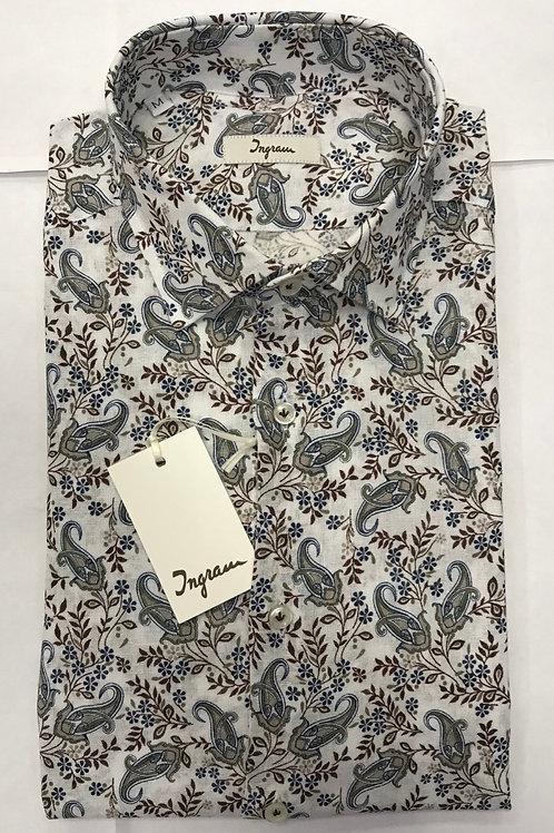Ingram Shirt white base/paisley print