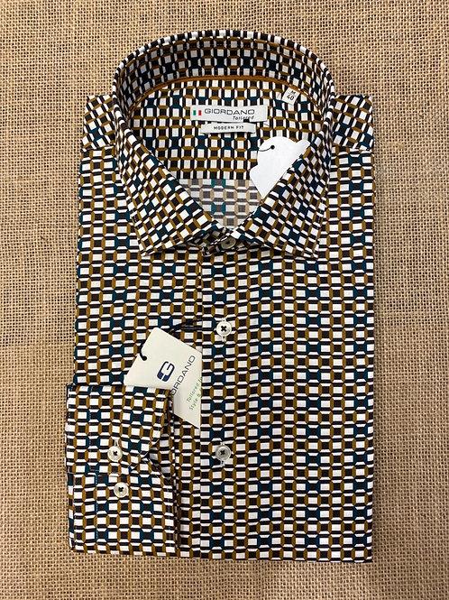 Giordano 207827-80 white pat shirt