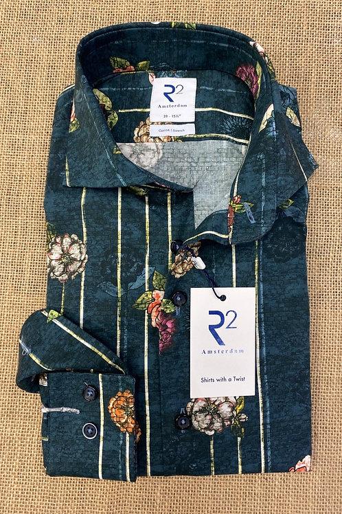 R2 Long sleeves floral shirt
