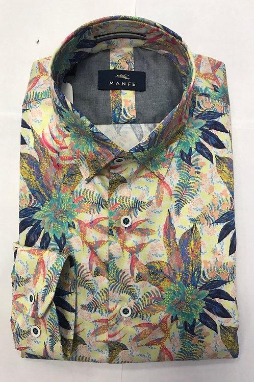 MANFEmulti colors flowers print shirt