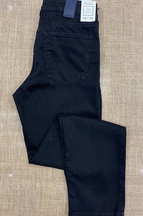 Meyer Slim M5 Super Stretch Jersey black Denim