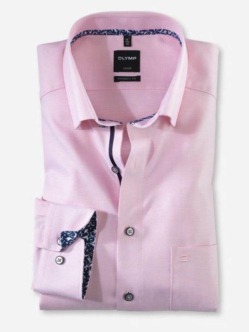 Olymp Long sleeved shirt pink