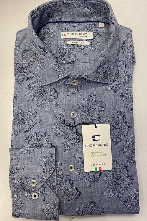 Giordano Long sleeves Blue shirt