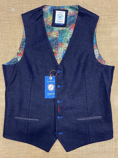 """A fish named Fred"" Lovely soft wolle waistcoat"