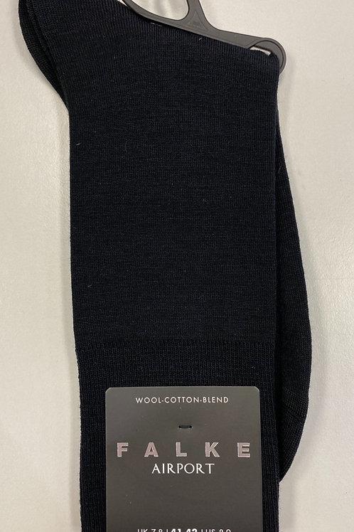FALKE elegant merino-cotton-blend Socks  black