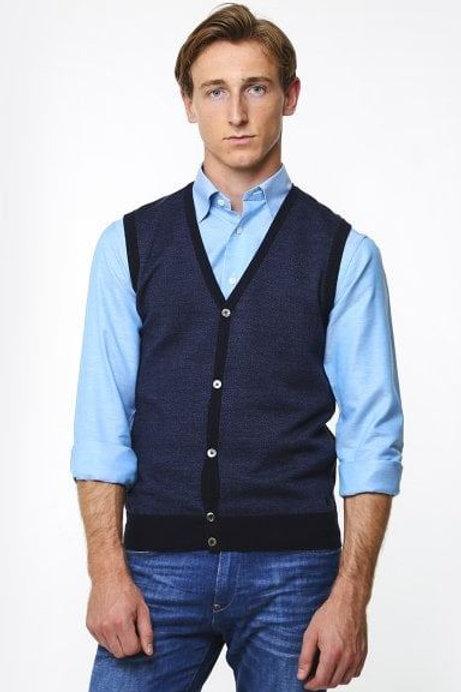 Thomas Main Navy Blue waistcoat
