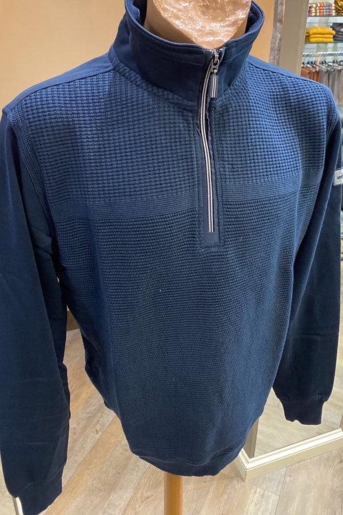 Baileys Blue Zip Neck Knitwear