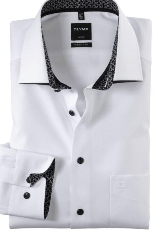 Olymp  white Luxor Long sleeved shirt