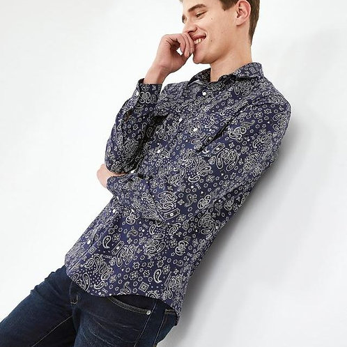 Eden Park Long sleeve dark blue shirt