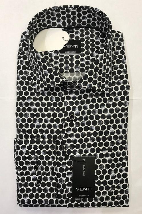 VENTI Long sleeved shirt black/white