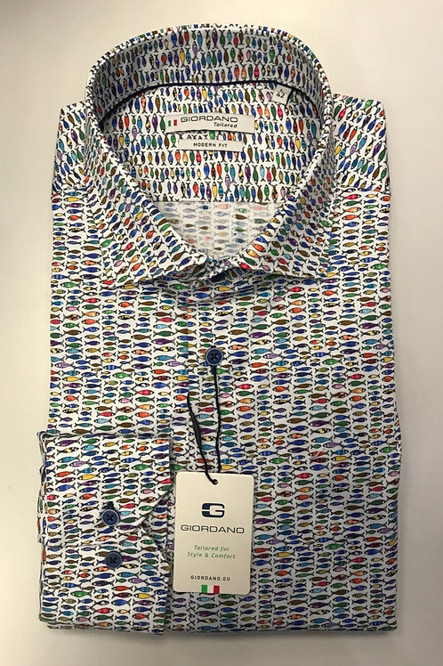 Giordano multi colors fish print shirt