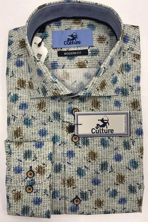Culture Floral Blue shirt