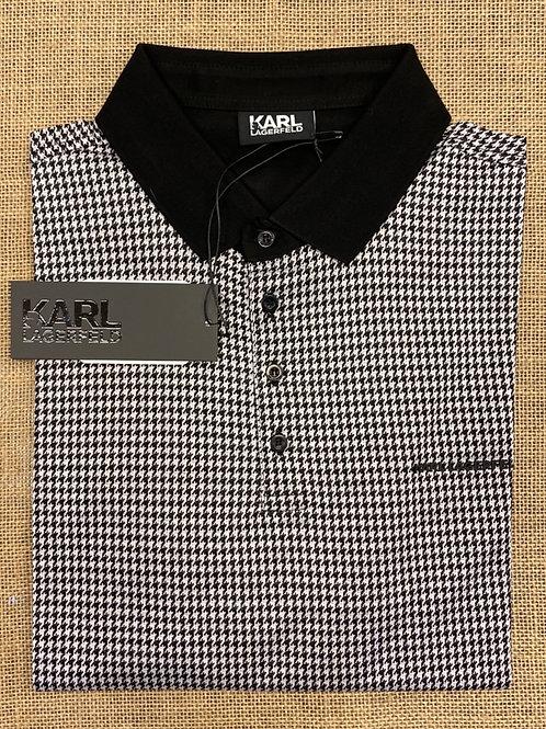 Karl Lagerfeld long sleeve black/white polo  shirt