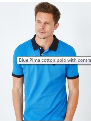 Polo shirt with contrast underside of collar