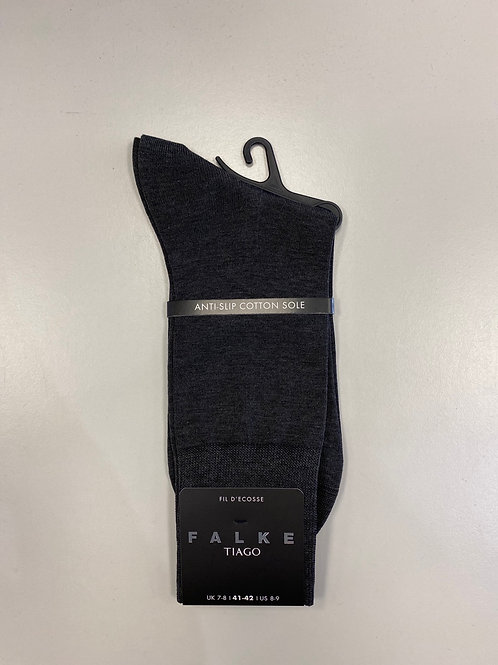 FALKE  14662W anti-slip cotton sole Socks dark grey