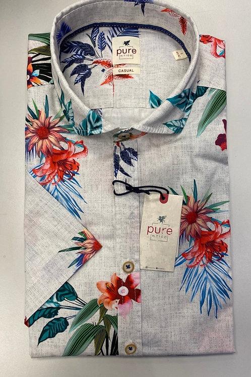 Pure Short sleeve Multi Flower colors shirt