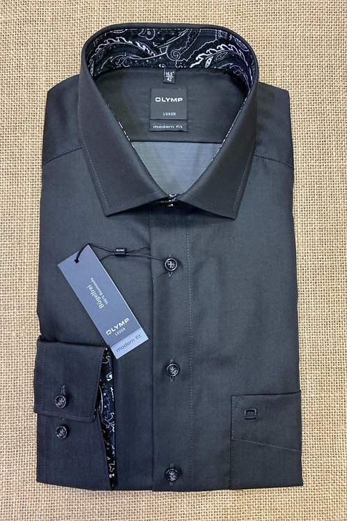 Olymp  Luxor Long sleeved shirt black